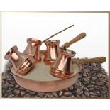"Кофейный набор турка ""Джаз"" 170 мл .4 шт."